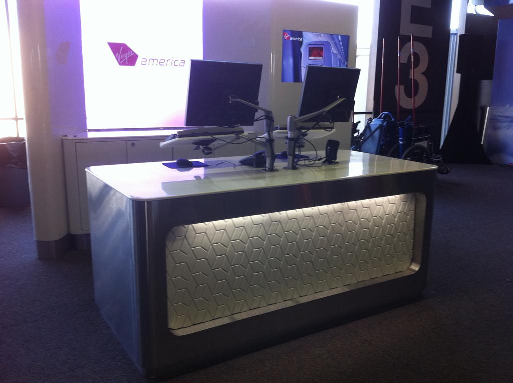 Virgin America Gate With Custom Panel
