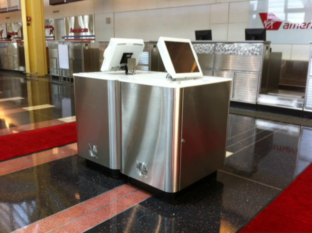 Virgin America DCA Custom Kiosk