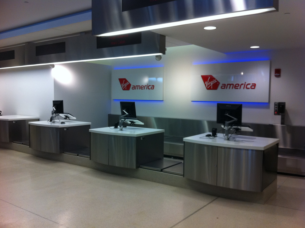 Virgin America Ticket Line Philadelphia